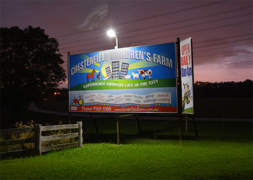 billboard solar lighting