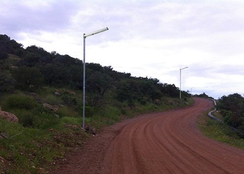 20W all in one pathway solar led light for Rural area