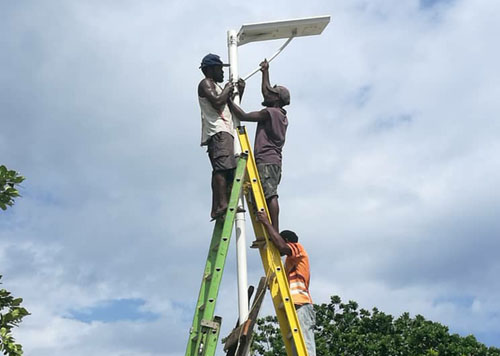 rural area solar lighting