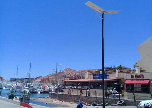 Scenic area solar lighting