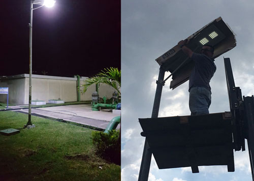 Security solar lighting