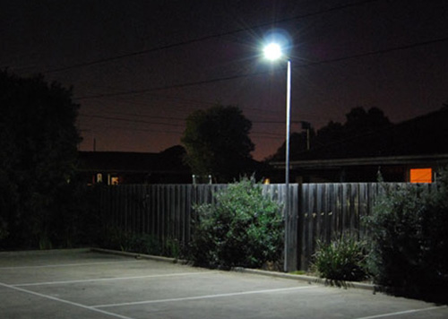 10w parking lot solar light
