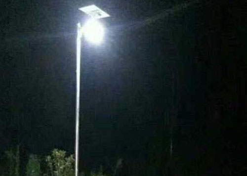 8w all in one solar garden light