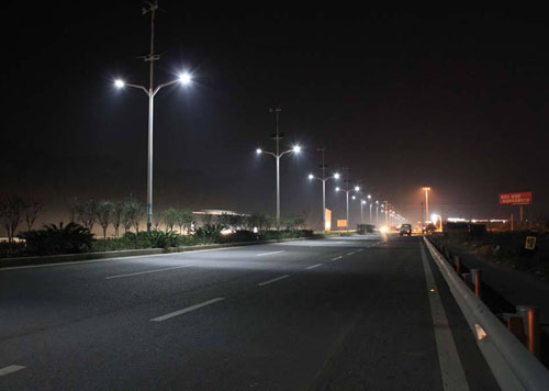 split LED solar street light
