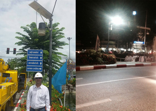 U4 30w solar street light for Thailand